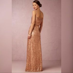 BHLDN by Donna Morgan courtney rose gold dress